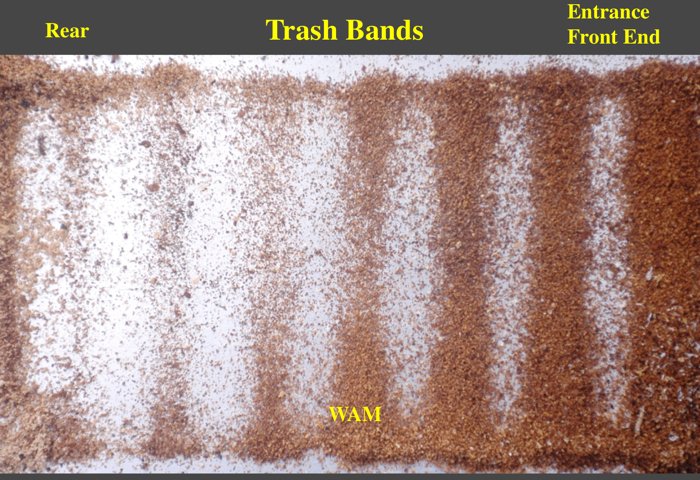 trash bands on a sticky board