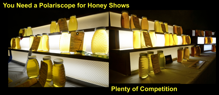 Honey Show, many jars
